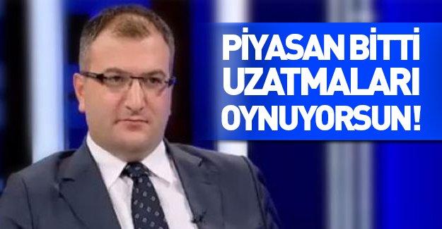 """Cem Küçük'ten Ahmet Hakan'a: """"Uzatmaları oynuyorsun"""""""