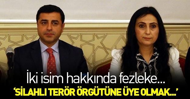 Demirtaş ve Yüksekdağ hakkında fezleke!