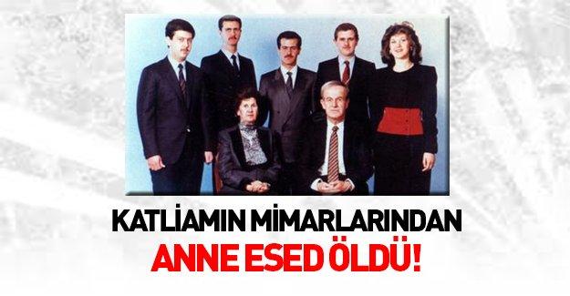 Katliamın mimarlarından Beşar Esed'in annesi Enise Mahluf öldü!
