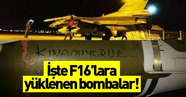 Pilotlardan terör örgütü PKK'ya bombalı mesajlar