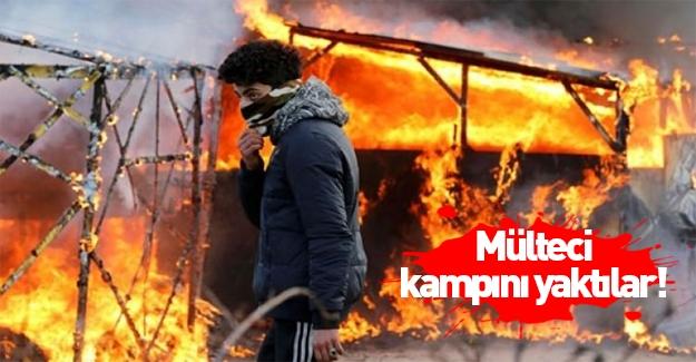 Ülke karıştı! Mülteci kampını yaktılar