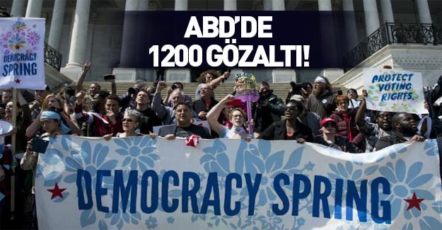 ABD'de Demokrasi Baharı gösterilerinde bin 200 gözaltı