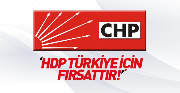 CHP'li Güneş: HDP, Türkiye için bir fırsattır