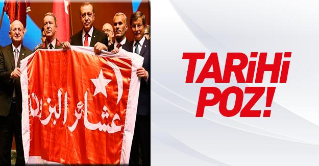 Erdoğan'a Kut'ül Amare sancağı getirdiler