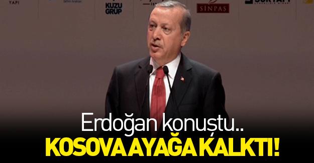 Erdoğan İslam ülkelerine çağrı yaptı, Kosova ayağa kalktı