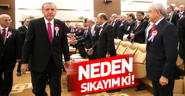 Erdoğan neden Kılıçdaroğlu'nun elini sıkmadı?