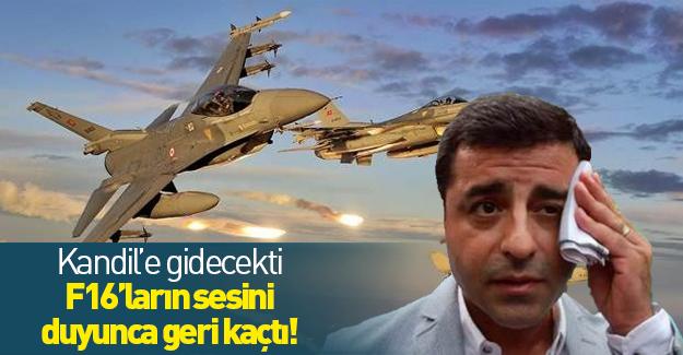 F-16'lar Demirtaş'ın Kandil'e çıkacağı sırada bombaladı!