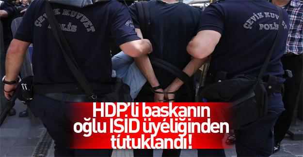 HDP'li başkanın oğlu IŞİD üyeliğinden tutuklandı