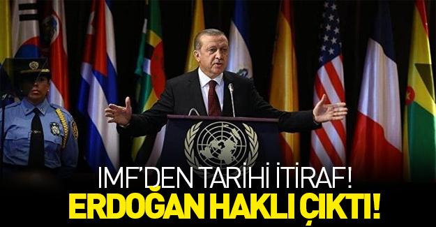 IMF'den itiraf gibi açıklama! Erdoğan haklı çıktı