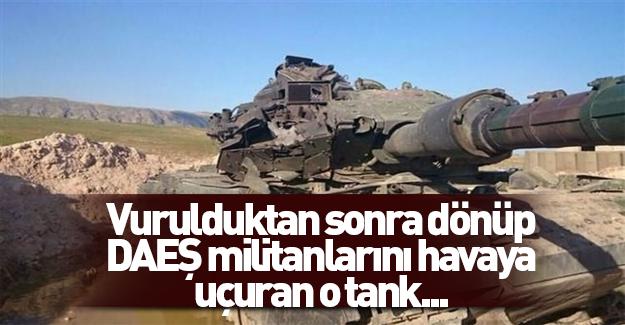 Saldırıya uğrayan Türk tankı affetmedi