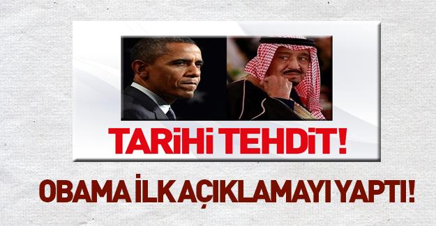 Tarihi tehdit sonrası Obama açıklama yaptı!
