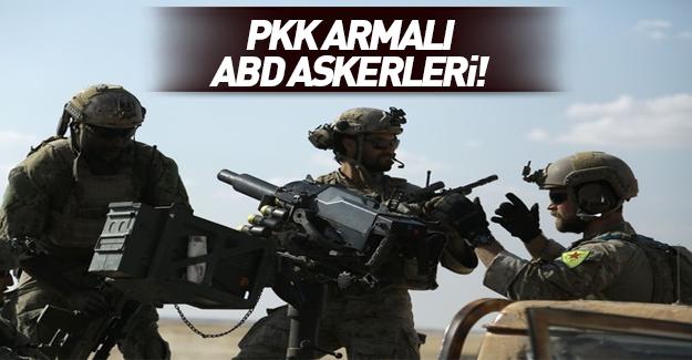 ABD askerlerinin üniformasındaki YPG detayı