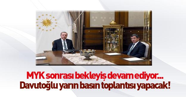 Başbakan Davutoğlu açıklama yapacak!