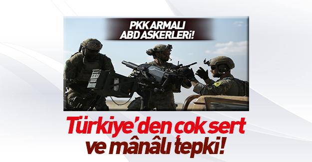 Çavuşoğlu'ndan ABD'ye YPG arması tepkisi