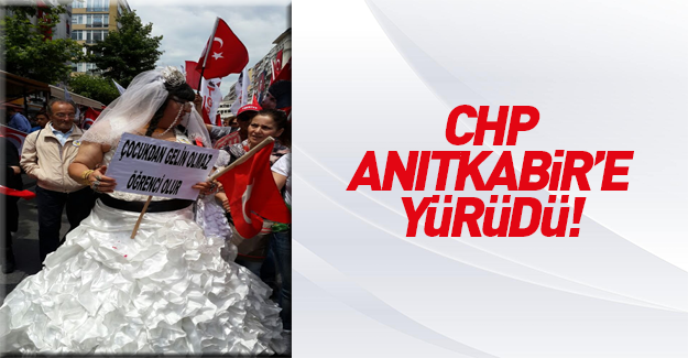 CHP'nin renkli 19 Mayıs yürüyüşü