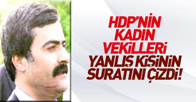 HDP'li Abdullah Zeydan'ın yüzünü çizdiler