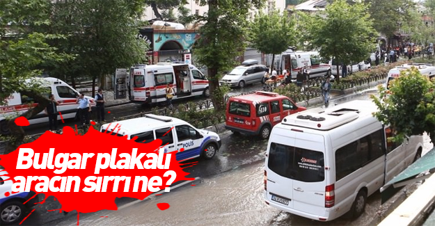 İstanbul Vezneciler'de kiralık araçla hain saldırı