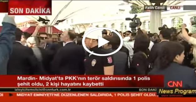Kılıçdaroğlu'na şehit cenazesinde protesto