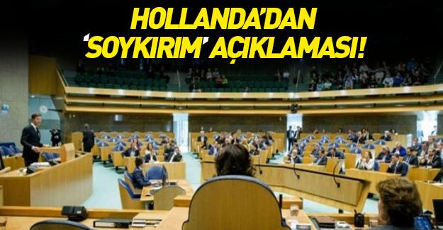 'Soykırım' iddiaları için Hollanda'dan flaş karar
