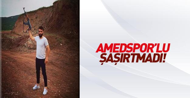 Amedsporlu futbolcudan PKK propagandası