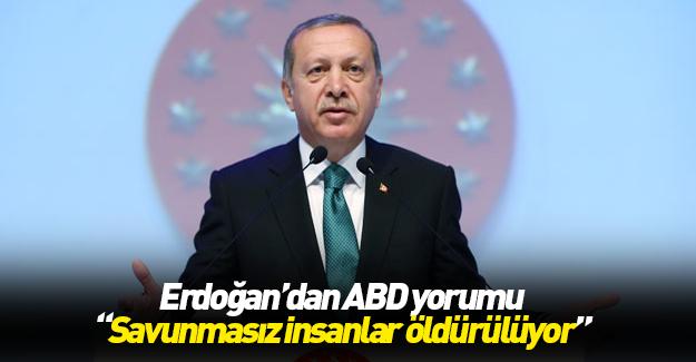 Erdoğan'dan ABD'deki olaylar için önemli açıklama