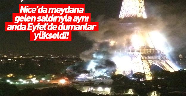 Eyfel Kulesi dumanlar içinde kaldı!