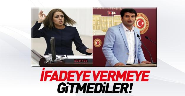 HDP'li vekiller ifade vermeye gitmedi