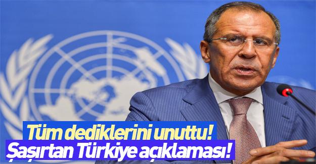 Lavrov'dan şaşırtan Türkiye açıklaması