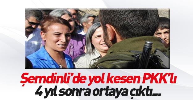 Şemdinli'de yol kesen PKK'lı Suriye'de ortaya çıktı