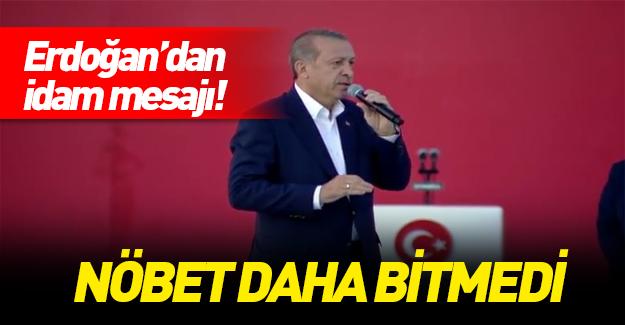 Cumhurbaşkanı Erdoğan'ın Yenikapı konuşması