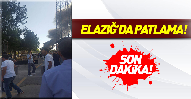 Elazığ'da patlama!