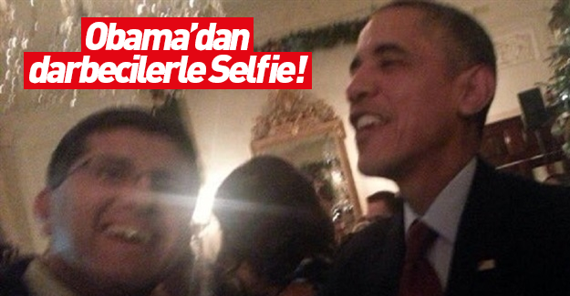 Obama'dan FETÖ'cü Faruk Taban'la selfie!