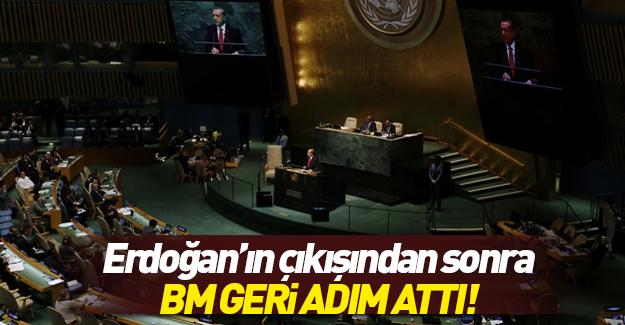 Birleşmiş Milletler geri adım attı
