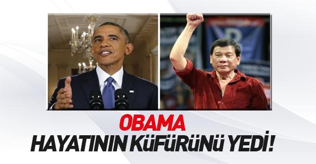 Filipinler Devlet Başkanı'ndan Obama'ya çok ağır küfür