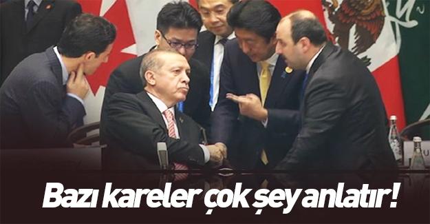 G20'de Japonya lideri Abe Erdoğan ile konuştu