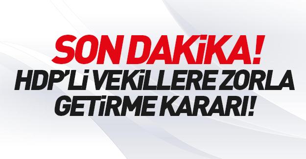 HDP'li vekillere büyük şok! Karar çıktı