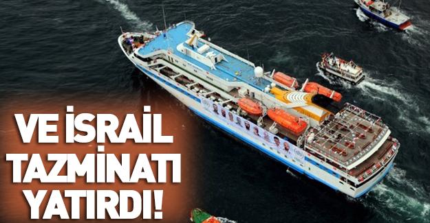 İsrail Mavi Marmara tazminatını yatırdı