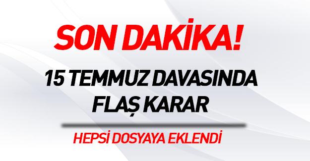 Ergenekon, Balyoz davaları da FETÖ'ye dahil edildi