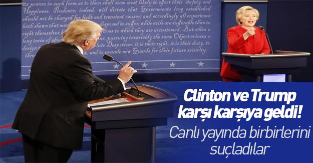Trump ve Clinton canlı yayında kozlarını paylaştı