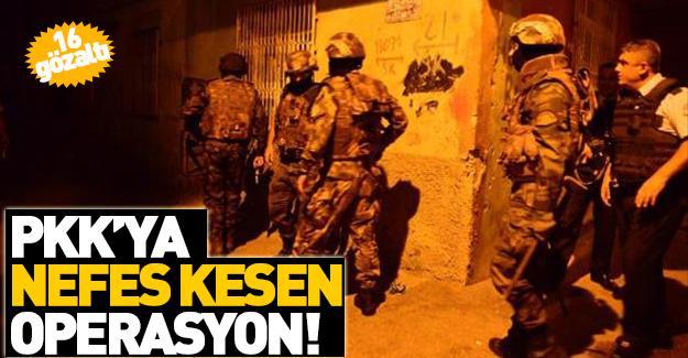 Adana'da şafak operasyonu! 16 gözaltı!