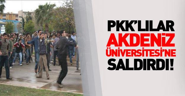 Akdeniz Üniversitesi'nde PKK provokasyonu...