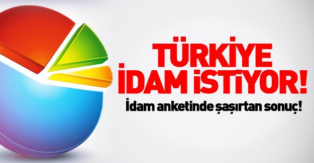 Anket sonuçları açıklandı! Türkiye idam istiyor!