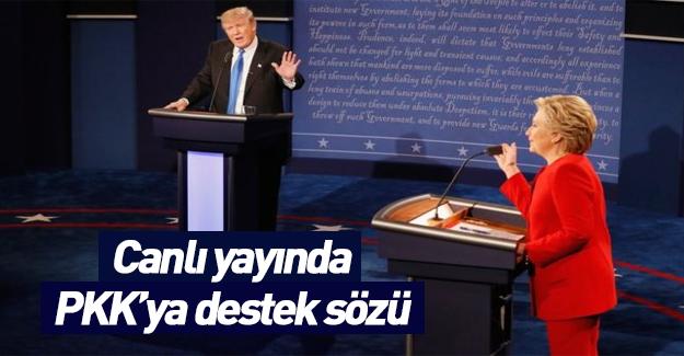 Canlı yayında PKK'ya söz verdi