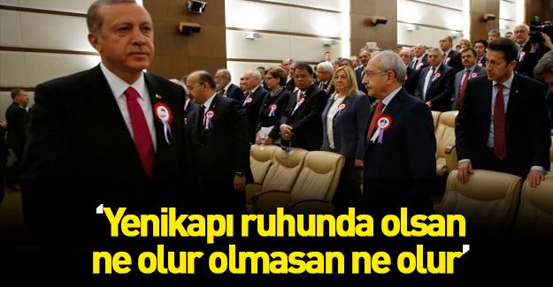 Cumhurbaşkanı Erdoğan'dan Kılıçdaroğlu'na Yenikapı resti