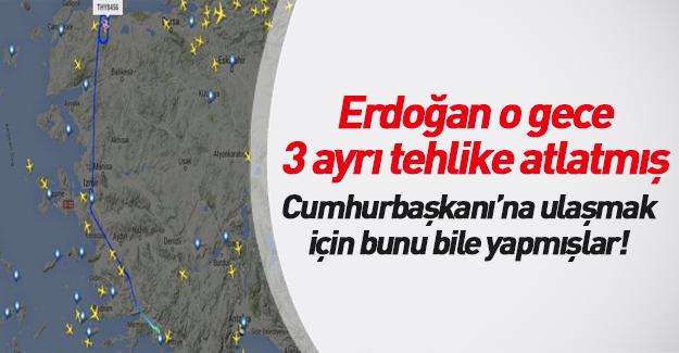 Erdoğan'ın uçağını bulmak için bunu bile yapmışlar!
