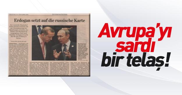 Erdoğan-Putin yakınlaşması Batı medyasında
