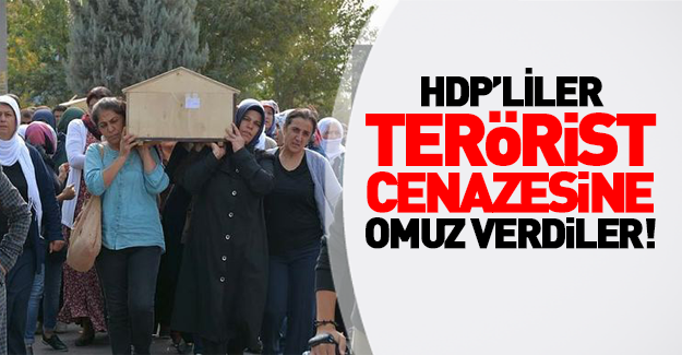 HDP'li vekiller terörist cenazesinde!