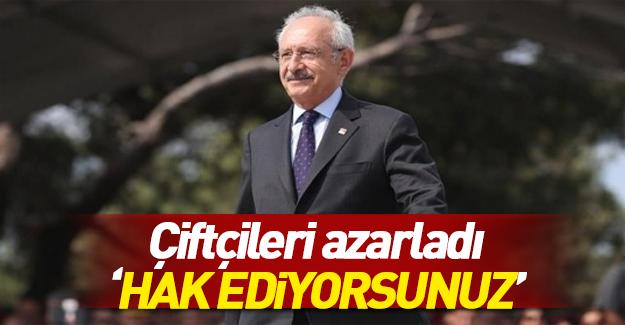 Kılıçdaroğlu çiftçileri azarladı!