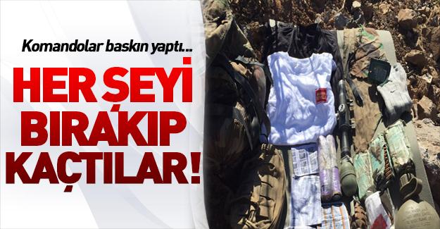 PKK'lılar her şeyini bırakarak kaçtı !