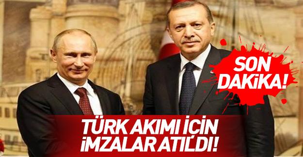 Türk Akımı Projesi'nde imzalar atıldı